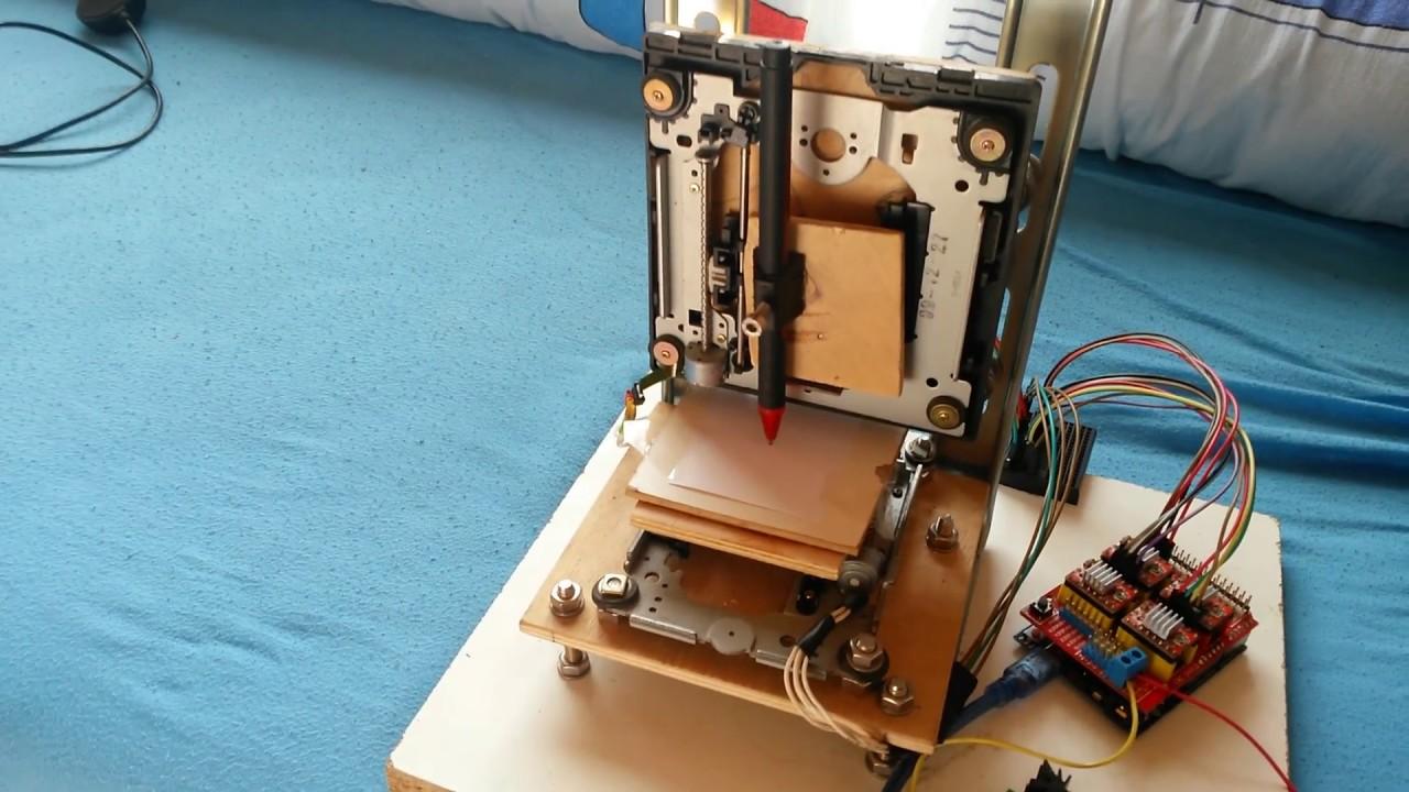 How to make mini cnc dvd plotter arduino shield grbl