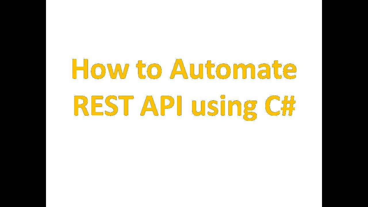 REST API testing using C# RestSharp and Json NET