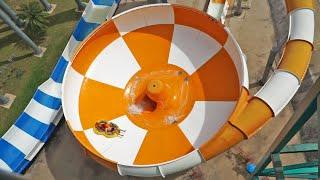 Dino Water Park - Space Boat Water Slide Trichterrutsche Onride