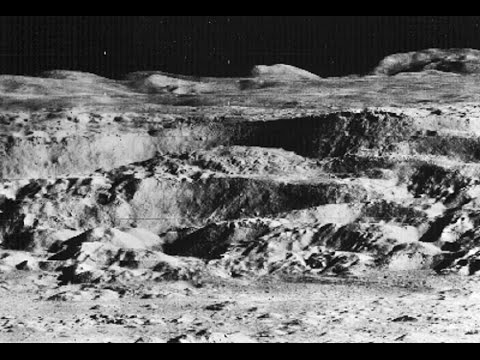 John Lear's Raw Moon Image - Alien Structures Towers Mining & Lunar Bases