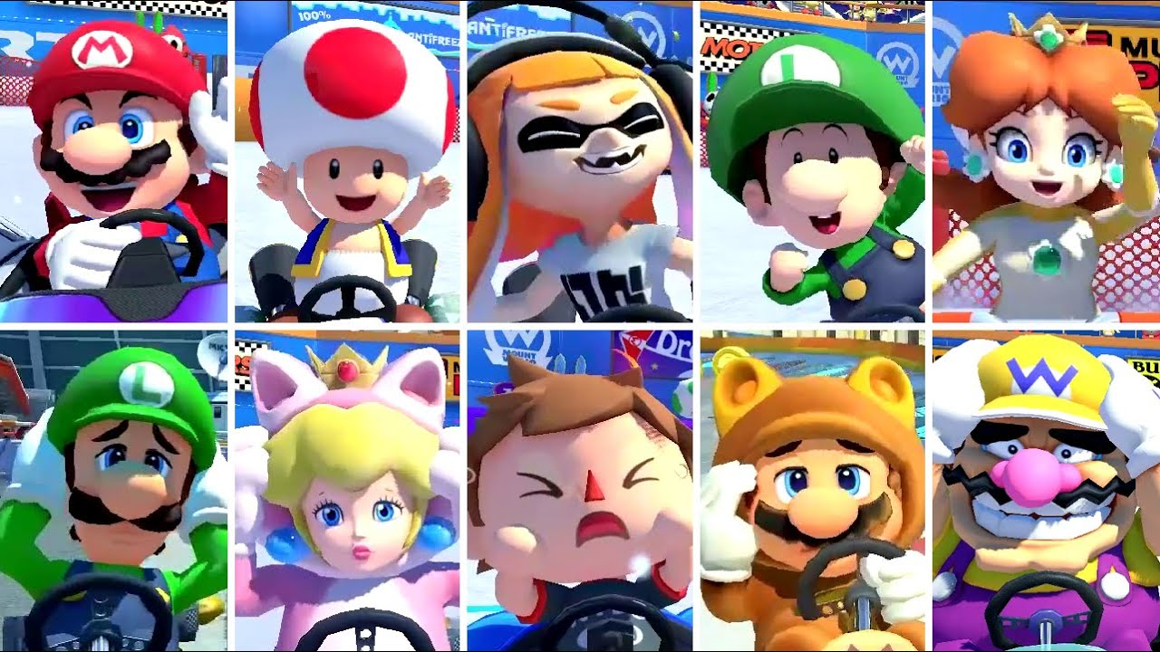 Mario Kart 8 Deluxe - All Character Win & Loss Animations