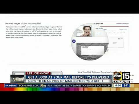 Let Joe Know: Get a look at your mail before it's delivered
