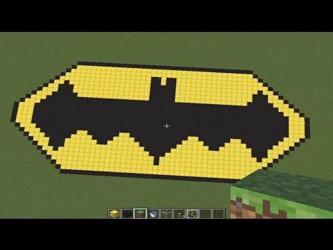 смотреть как делать знак бэтмена в майнкрафте #10