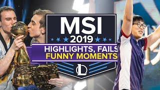 MSI 2019: Best Plays, Funny Moments and Fails (League of Legends)