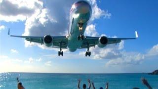 VERY COOL!  Jets Landing at Princess Juliana Airport on SXM, Sint Maarten
