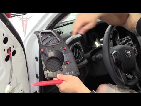 Toyota Tacoma 2016 +   How To Remove Install Dash Speakers Tweeters Using Plug And Play Harness