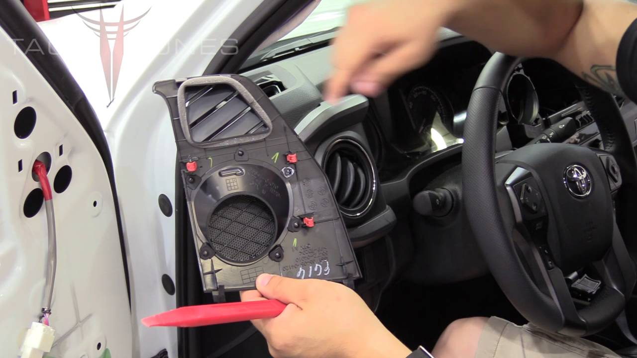 Toyota Tacoma 2016 How To Remove Install Dash Speakers