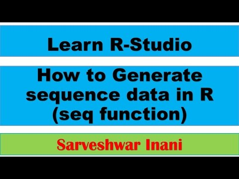 How To Generate Sequence Data In R: Seq Function