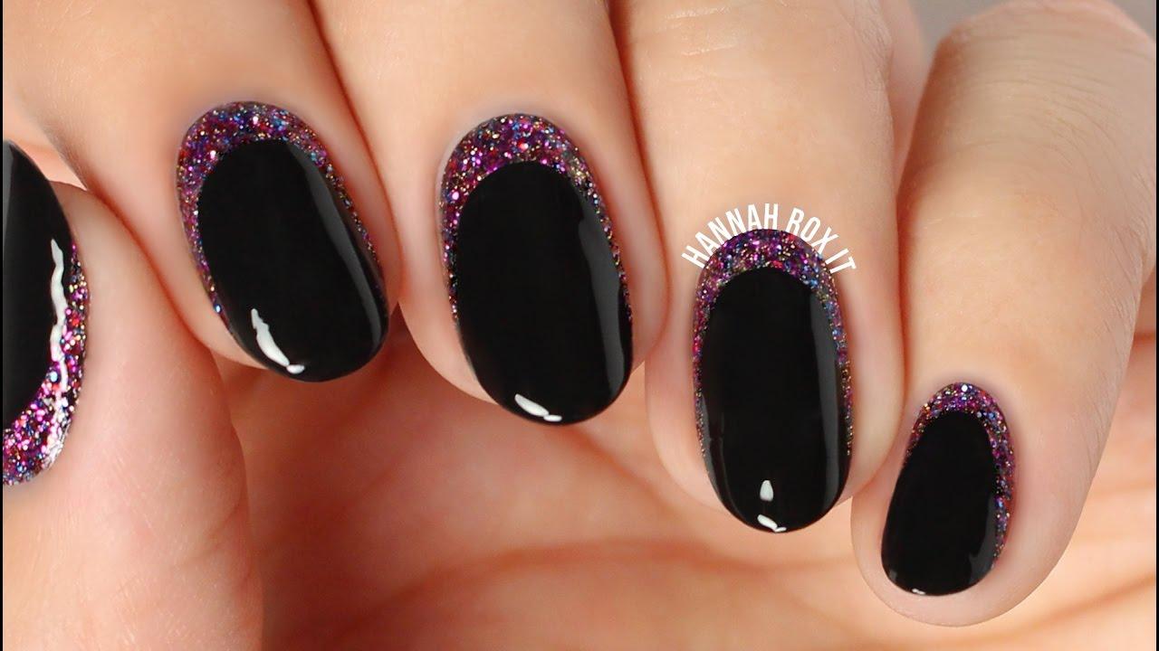Easy Glitter Cuticle Manicure