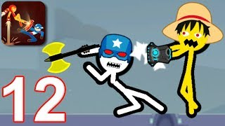 STICKMAN FIGHT BATTLE - Walkthrough Gameplay Part 12 (Shadow Warriors Android Game)