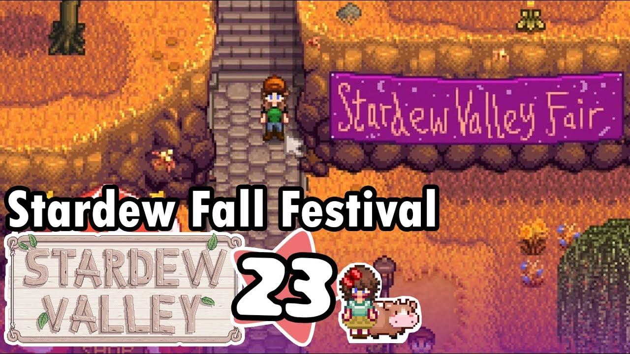 Fall Calendar Stardew.Part 23 Stardew Fall Festival Let S Play Stardew Valley