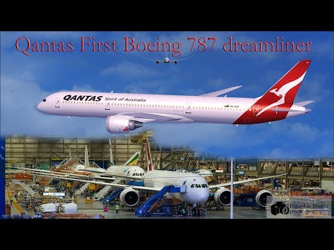 First Look- Qantas FIRST Boeing 787-9 Dreamliner @ Boeing Everett factory assembly line