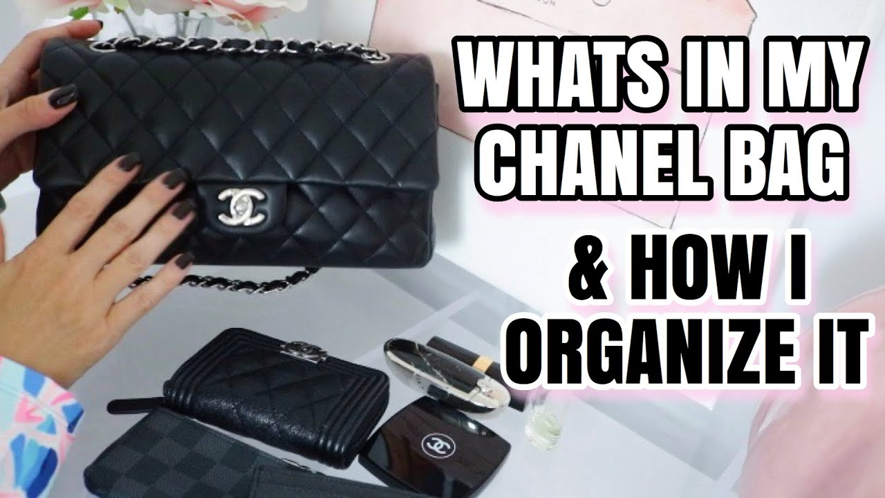 WHAT'S IN MY CHANEL CLASSIC FLAP AND HOW I ORGANIZE IT!