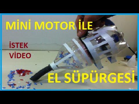 El Süpürgesi Yapımı-Hobi Amaçlı Mini Motor İle Süpürge-Vacuum Cleaner