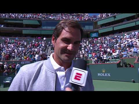 Roger Federer Talks to Fans About Rafa's Withdraw & The Finals at the 2019 BNP Paribas Open