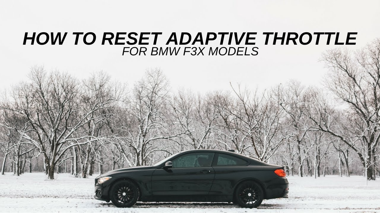HOW TO RESET ADAPTIVE THROTTLE ON BMW - hmong video