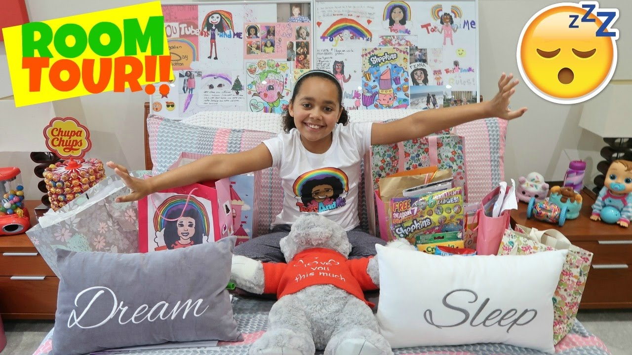 bedroom tour opening surprise presents from fans shopkins kinder surprise candy toys andme vloggest bedroom tour opening surprise presents