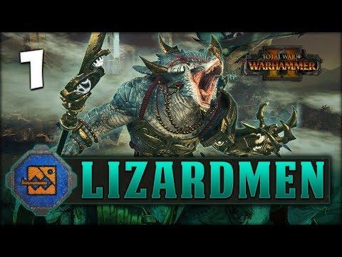 THE MIGHT OF KROQ-GAR! Total War: Warhammer 2 - Lizardmen Campaign - Kroq-Gar #1