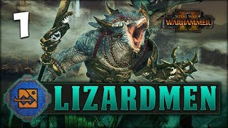 THE MIGHT OF KROQ-GAR! Total War: Warhammer 2 - Lizardmen Campaign - Kroq-Gar #1