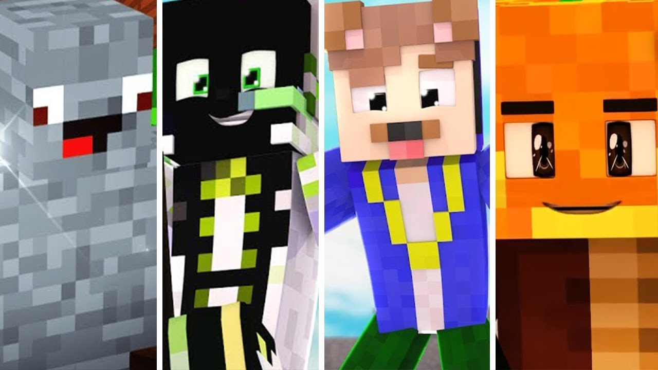 TOP 10 YOUTUBER MINECRAFT SKINS - YouTube