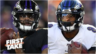 Keys to Lamar Jackson's success vs. the Titans: Running or throwing? | First Take