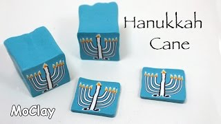 DIY Hanukkah menorah polymer clay cane