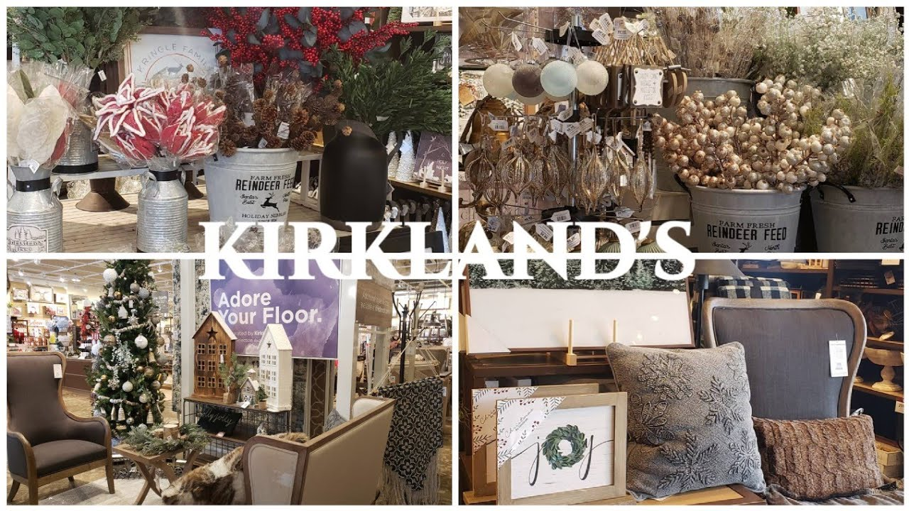 Kirkland's holiday DECOR 2019 shop with me - YouTube