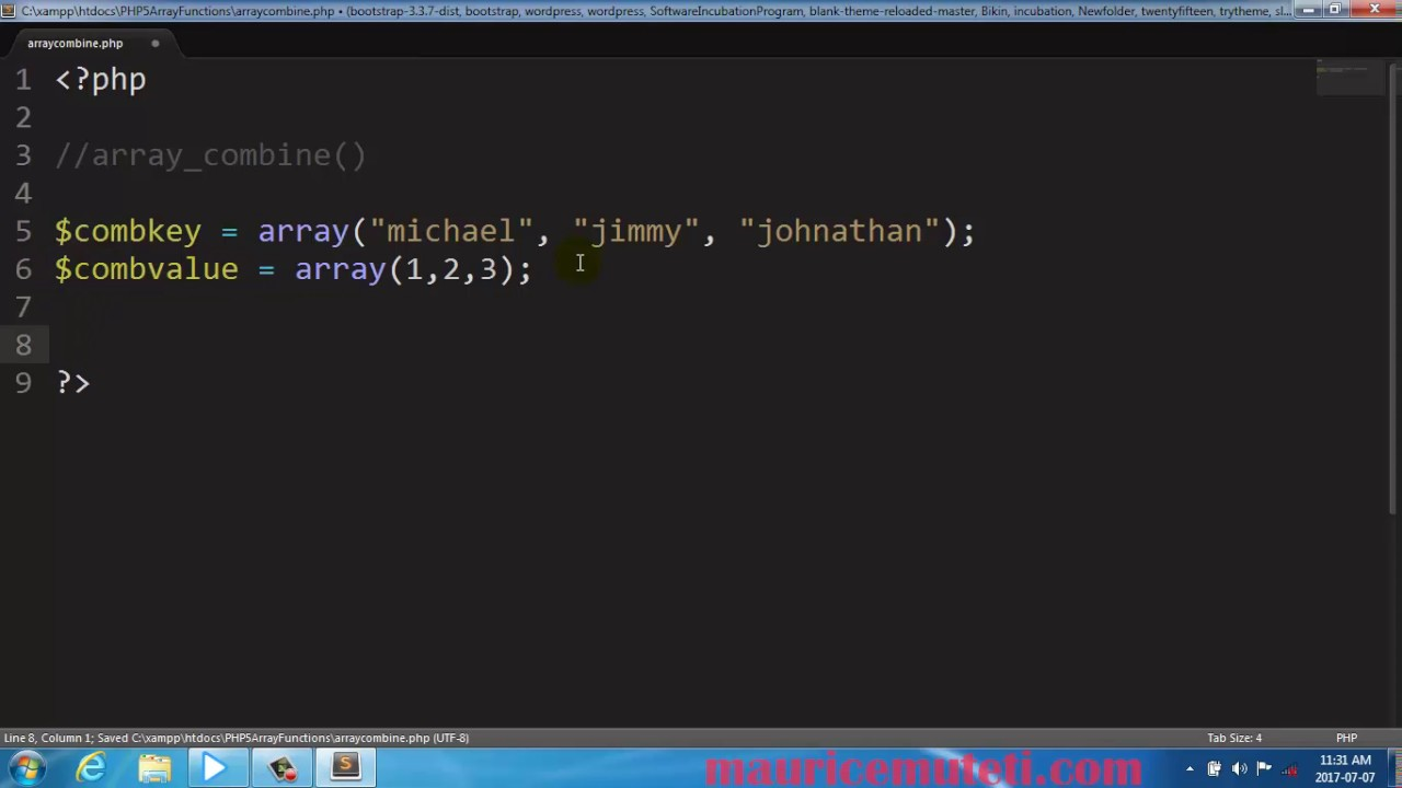 how to make a function array php