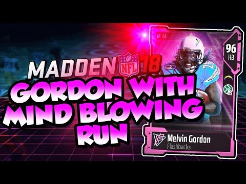 Madden 18 Ultimate Team :: Melvin Gordon w/ a Mind Blowing Run :: Madden 18 Ultimate Team