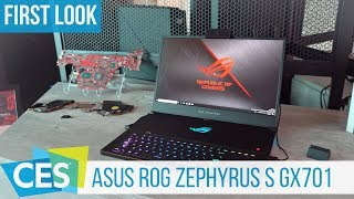 Asus ROG Zephyrus S GX701Hands-On: Gaming-Notebook mit RTX 2080 Max-Q #CES2019