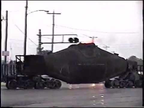 Granite City Steel hot metal car move from Blast Furnace ...