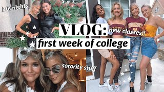vlog: first week of college!!