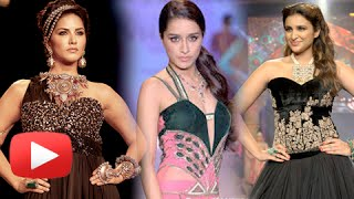 Shraddha Kapoor, Parineeti Chopra, Sonam Kapoor, Sunny Leone - RAMP WALK | WATCH NOW !