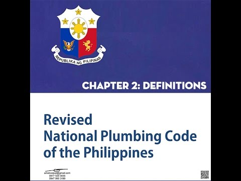 Plumbing Code Chapter 2: Definitions MP4 HD