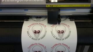 Die Cut Stickers on the Graphtec Cutter - San Diego Printing