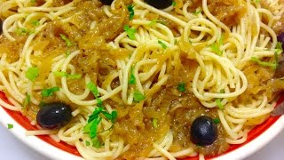 Homemade Spaghetti With Smothered Onion Sauce