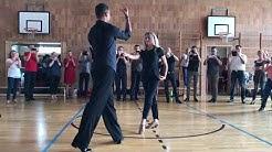 Let's Dance Stars Regina und Sergiu Luca beim Workshop des TSC Bamberg.