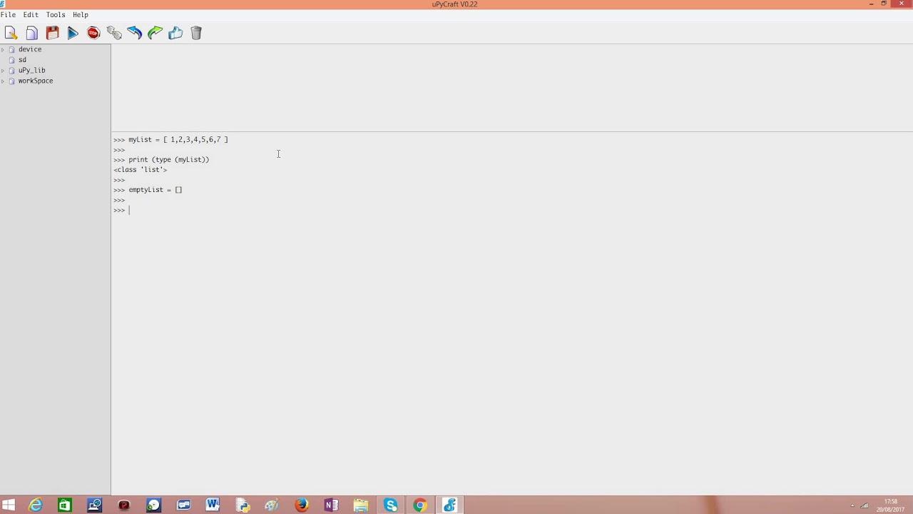 ESP32 / ESP8266 MicroPython: Introduction to Lists