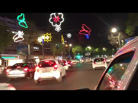 driving through Tashkent at night