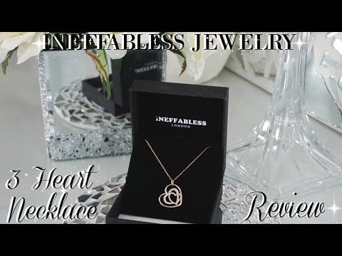 INEFFABLESS JEWELRY THREE HEART NECKLACE REVIEW 💎💎