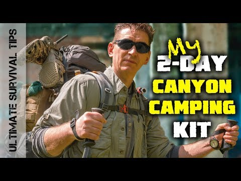 2-Day Canyon Camping – Survival Kit / SOLAR Backpack – Wilderness FIELD TEST –