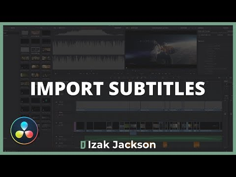 How To Import & Use Subtitles In Davinci Resolve
