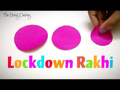 how-to-make-rakhi-at-home-in-lockdown-/-easy-rakhi-making-ideas-in-2020-/-paper-diy-/-lockdown-rakhi