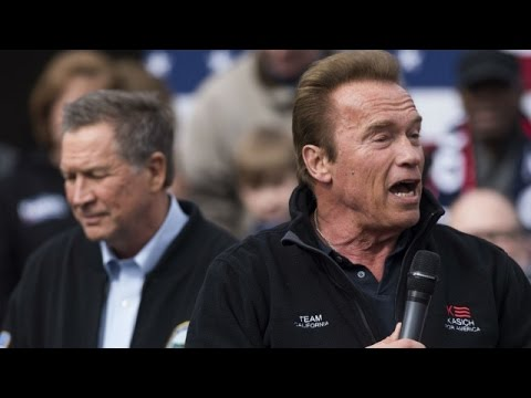 Arnold Schwarzenegger Endorses John Kasich, The