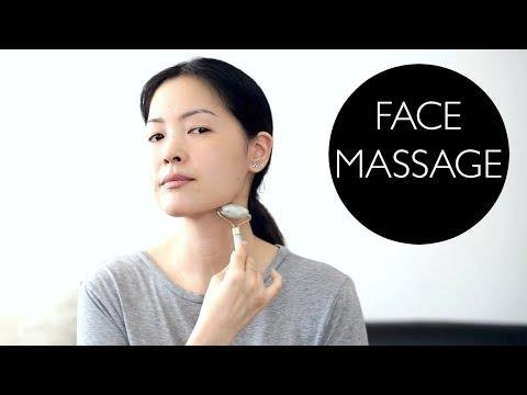 Facial Lymphatic Drainage Massage Using Jade Roller!