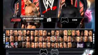 PCSX2 0.9.7 WWE SMACKDOWN VS RAW 2011 PS2 ALL CHARACTERS AND FINISHERS