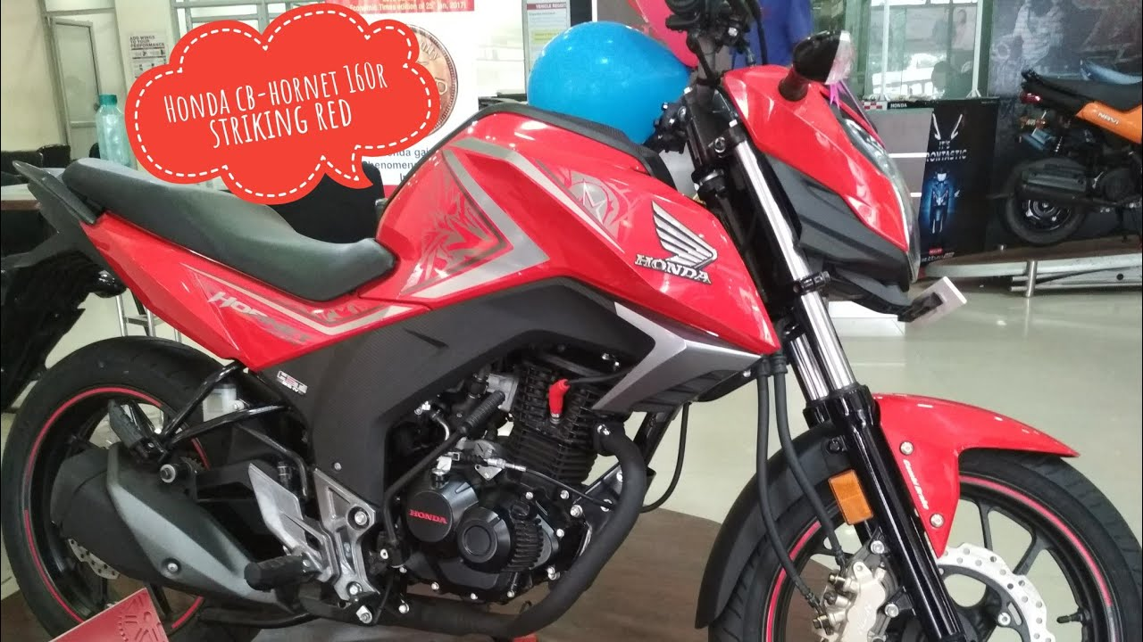 honda cb hornet 160r striking red 2017 review youtube. Black Bedroom Furniture Sets. Home Design Ideas