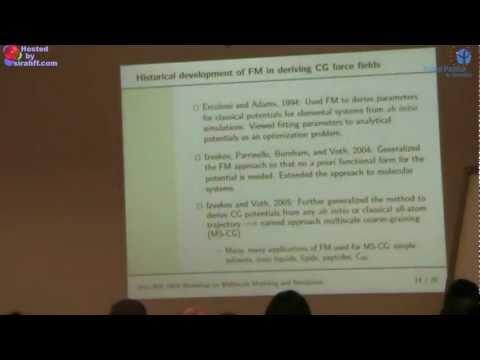 PASI 2012 -Monica Lamm: Force matching fundamentals