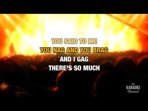 Shut Up in the style of Kelly Osbourne | Karaoke with Lyrics