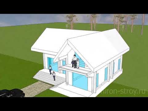 Дом 10х12 метров из строганого бруса 200х200 мм